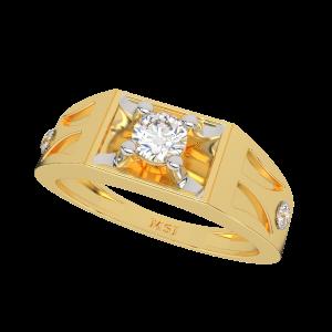 The Elegant Gold Diamond Mens Ring