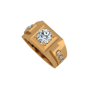 The Kingly King Gold Diamond Mens Ring