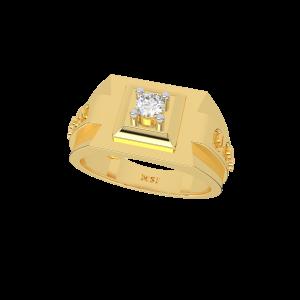 The Kingly King Gold Diamond Mens Ring