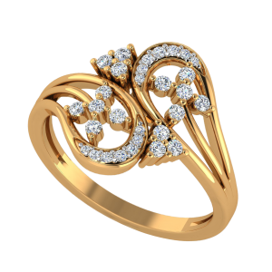 The Twin Twig Diamond Ring