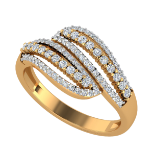 The Parallel Chord Diamond Ring