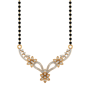 The Kaayenaat Mangalsutra With Black Beads Gold Chain