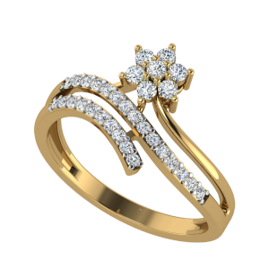 The Floral Branch Diamond Ring