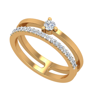 The Twin Aisle Diamond Ring