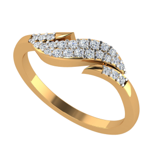 The Swirl Band Diamond Ring
