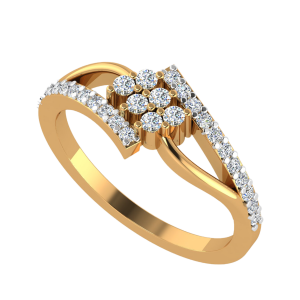 The Gleaming Line Diamond Ring