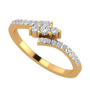 The Sleek Bling Diamond Ring