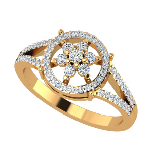 The Ferris Flower Diamond Ring