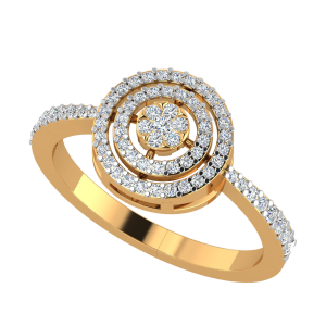 The Halo Twirls Diamond Ring