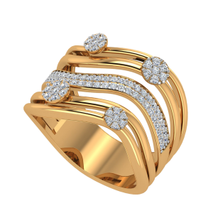 The Twinkle Loops Diamond Ring