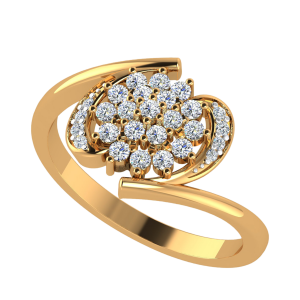 The Floret Flutter Diamond Ring