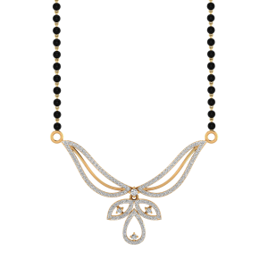 The Naayaab Mangalsutra With Black Beads Gold Chain