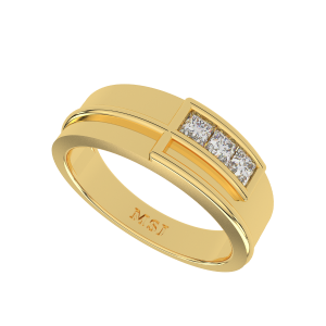 The Sorment Gold Diamond Men`s Ring