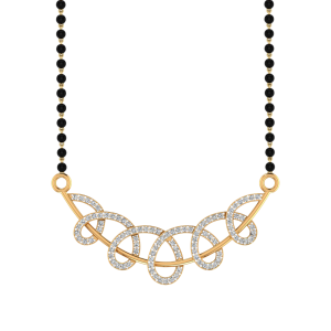 The Sweven Mangalsutra With Black Beads Gold Chain