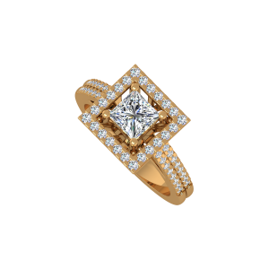 The Cushion Crest Gold Diamond Ring