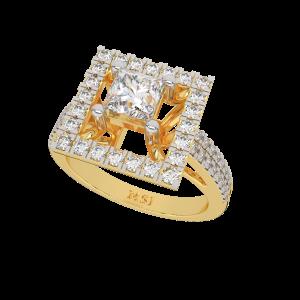 The Cushion Crest Gold Diamond Ring