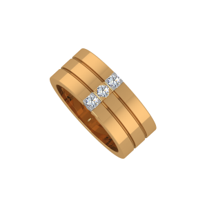 The Slashed Gold Diamond Ring