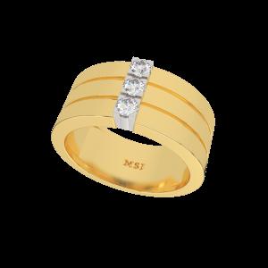 The Slashed Gold Diamond Ring