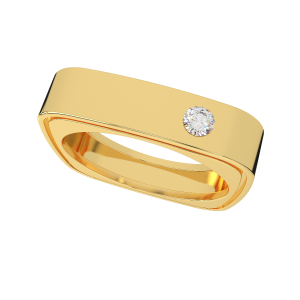 The Square Squash Diamond Ring