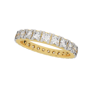 The Starlet Band Gold Diamond Ring