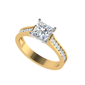 The Momentous Princess Cut Diamond Solitaire Ring
