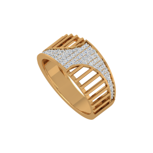 The Perfect Blend Gold Diamond Ring