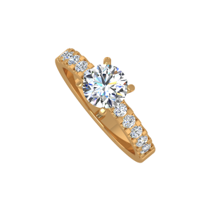 The Wonder Solitaire Gold Diamond Ring