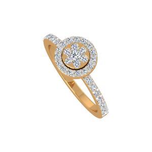 The Floral Brews Gold Diamond Ring