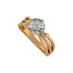Marque Solitaire Gold Diamond Ring