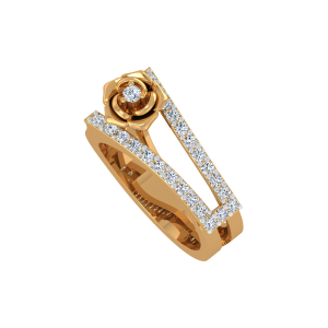 The Rosette Gold Diamond Ring