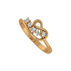 The Infinite Melodrama Gold Diamond Ring