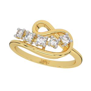 The Infinite Melodrama Gold Diamond Ring