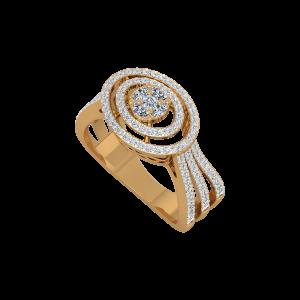 Glittering Gallery Gold Diamond Ring