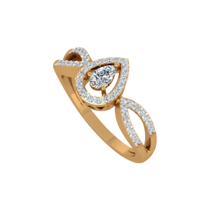 Pear Play Gold Diamond Ring