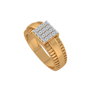 Golden Stairs Gold Diamond Ring