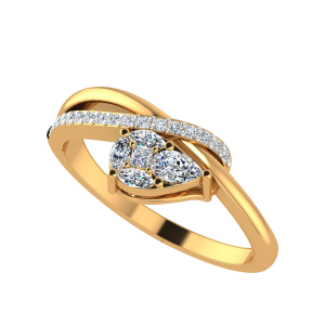 Pear Placed Diamond Ring