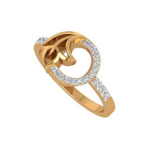Floral Vines Diamond Ring
