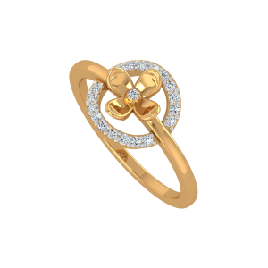 Floral Pool Gold Diamond Ring