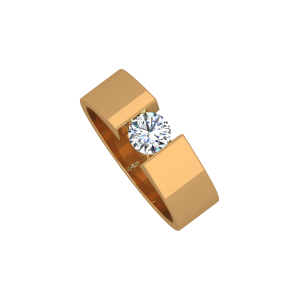 Forever Solitaire Gold Diamond Men's Ring