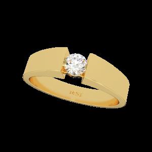 Forever Solitaire Gold Diamond Men's Ring