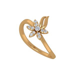 Floral Perks Gold Diamond Ring