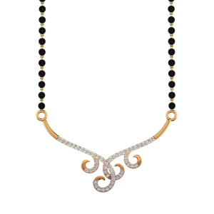 The Style Domain Mangalsutra With Black Beads Gold Chain
