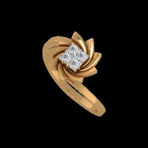 Sway Away Gold Diamond Ring
