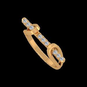The Golden Bridge Gold Diamond Ring