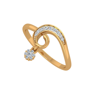 The Floral Way Gold Diamond Ring