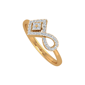 Refined Infinity Gold Diamond Ring
