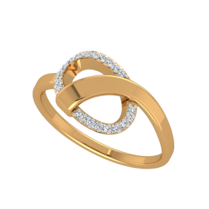 Crossing Waves Diamond Ring