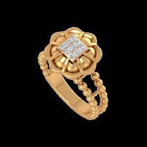 The Audacious Gold Diamond Ring
