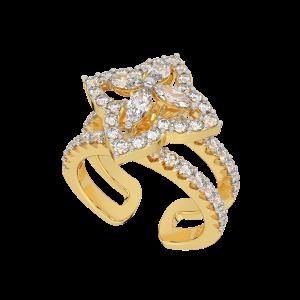 The Golden Star Gold Diamond Ring