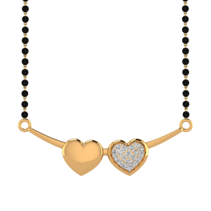The Love Bridge Mangalsutra With Black Beads Gold Chain
